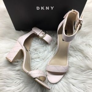DKNY Soft Pink Heeled Sandals 9.5M